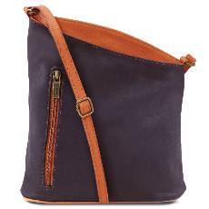 Leather Cross Body Bag for Women Blue - Tuscany Leather -