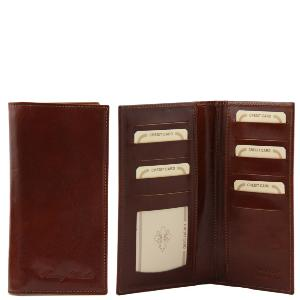 Leather Credit Card Holder Igea Brown- Tuscany Leather -