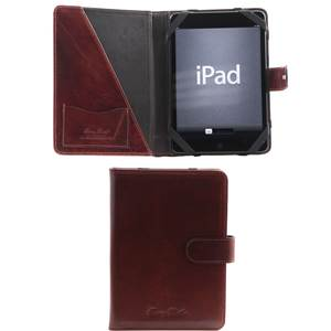 Leather Tablet Holder Sergio Brown  -Tuscany Leather-
