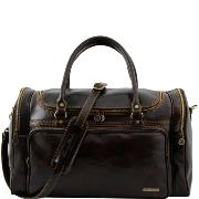 Travel Leather Bag Praga - Tuscany Leather - Dark Brown