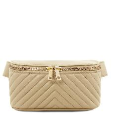 Soft Leather Bum Bag Beige - Tuscany Leather -