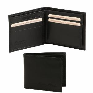 Leather Wallet for Men Black- Tuscany Leather -