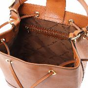 Leather Shoulder Bag for Women Black - Tuscany Leather -