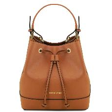 Leather Shoulder Strap for Women Honey - Tuscany Leather -