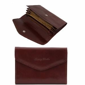 Leather Wallet for Women Brown -Tuscany Leather -