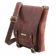 Leather Cross body Bag for Men New Collection Honey -Tuscany Leather-
