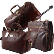 Luxurious Leather Travel Set  Brown- Tuscany Leather -