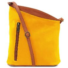 Leather Cross Body Bag for Women Yellow - Tuscany Leather -