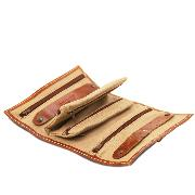 Leather Travel Jewellery Case for Women Honey - Tuscany Leather –