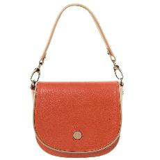 Leather Clutch with Shoulder Strap for Women - Tuscany Leather -