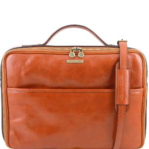Leather Laptop Briefcase Honey - Tuscany Leather –