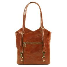 Leather Convertible Bag for Woman - Tuscany Leather -