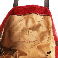 Leather Aged Effect Large Bag for Women Red - Tuscany Leather -