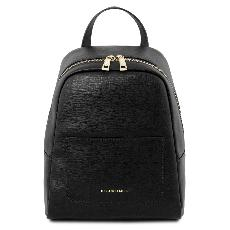 Leather Backpack for Women Black - Tuscany Leather -