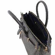 Leather Black Handbag for Women - Tuscany Leather -