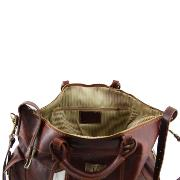 Travel Leather Bag Weekender - Tuscany Leather -