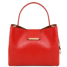 Leather Tote Bag for Woman - Tuscany Leather -