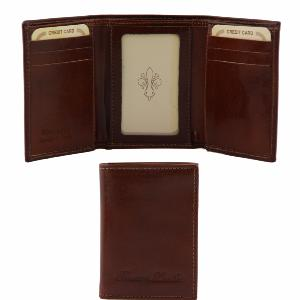 Leather Credit Card Holder for Men Brown -Tuscany Leather -
