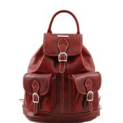 Leather Backpack Vintage Tokyo Red - Tuscany Leather -