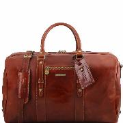 Soft Leather Travel Bag for Plane Cabin Brown - Tuscany Leather –
