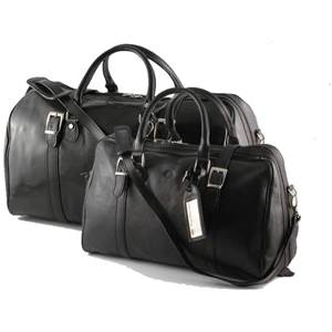 Leather Travel Set Berlino Black - Tuscany Leather -