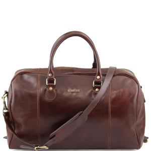 Soft Leather Travel Duffle Bag Brown- Tuscany Leather –
