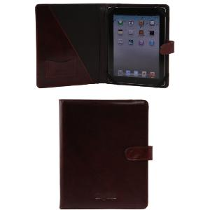 Leather Holder for Standard Tablet Brown  -Tuscany Leather-