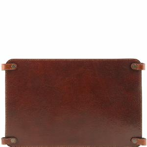 Leather Divider Module with Clip Brown -Tuscany Leather-