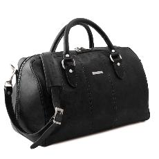 Travel Leather Duffle Bag Small Size - Tuscany Leather -