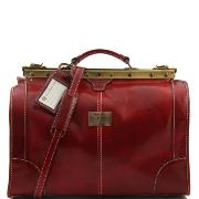 Vintage Leather Travel Bag Red - Tuscany Leather –