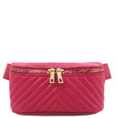 Sac Banane Cuir Souple Femme Rose - Tuscany Leather -