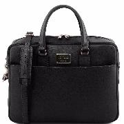 Leather Laptop Bag Black - Tuscany Leather –