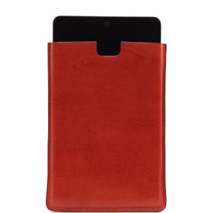 Leather mini iPad Holder Orange -Tuscany Leather-