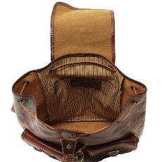 Leather Backpack Vintage Tokyo Honey - Tuscany Leather -