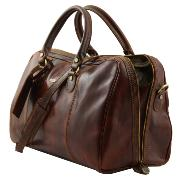 Travel Leather Duffle Bag Paris - Tuscany Leather -