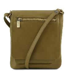 Unisex Soft Leather Shoulder Bag - Tuscany Leather -