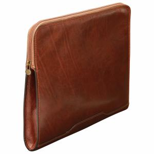 Extra Flat Leather Portfolio -Old Angler-