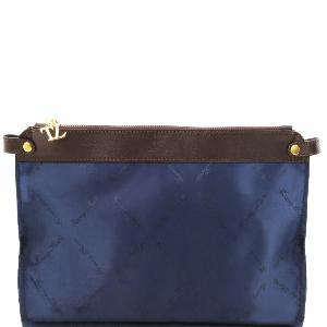 Inside Detachable Pocket Women's Bags Blue- Tuscany Leather –