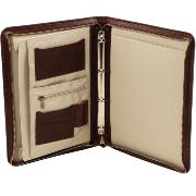 Leather Document Case with A4 Ring Binder Brown-Tuscany Leather-