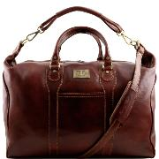 Travel Leather Weekender Bag uk - Tuscany Leather - Brown