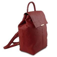 Soft Leather Backpack for Women Red - Tuscany Leather -