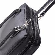 Leather Handbag with 2 Compartments for Women Black  - DuduBags -