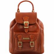 Leather Backpack Honey - Tuscany Leather -