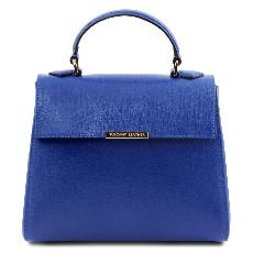 Leather Blue Bag for Women  -Tuscany Leather-