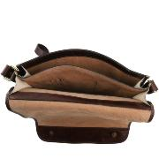 Leather Shoulder Bag for Men Brown -Tuscany Leather -