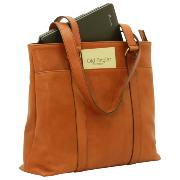 Leather Tote Bag for Women Camel -Old Angler-