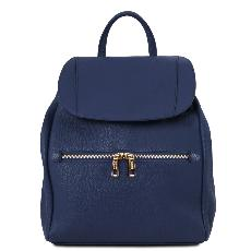 Soft Leather Backpack for Women Blue - Tuscany Leather -