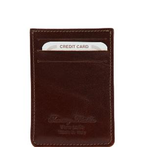 Elegant Leather Credit Card Holder Brown - Tuscany Leather -