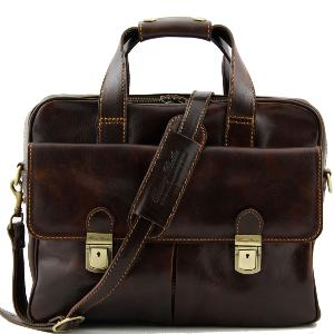 Sac Business Ordinateur Cuir Marron  - Tuscany Leather -