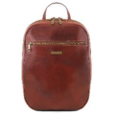 Leather Laptop Backpack Brown - Tuscany Leather -